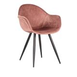 LABEL51 Eetkamerstoel 'Forli', Velvet, kleur Roze