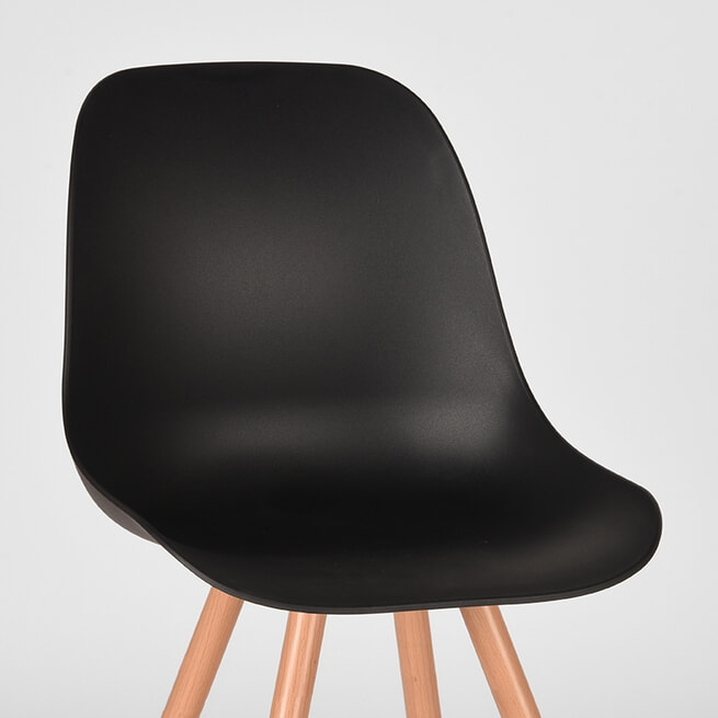 LABEL51 Eetkamerstoel 'Rimini', kleur Zwart