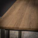Eettafel 'Arjun' 120 x 80cm, kleur eiken brownwash