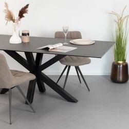 Sohome Eettafel 'Parker' Keramiek, 160 x 90cm, kleur Zwart