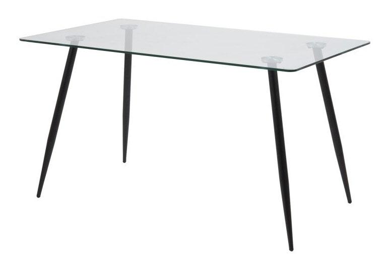 Eettafel 'Louise' 140 x 80cm met zwarte poten