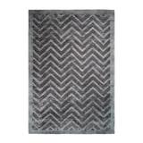 Kayoom Vloerkleed 'Luxury 410' kleur Grijs / Antraciet, 120 x 170cm