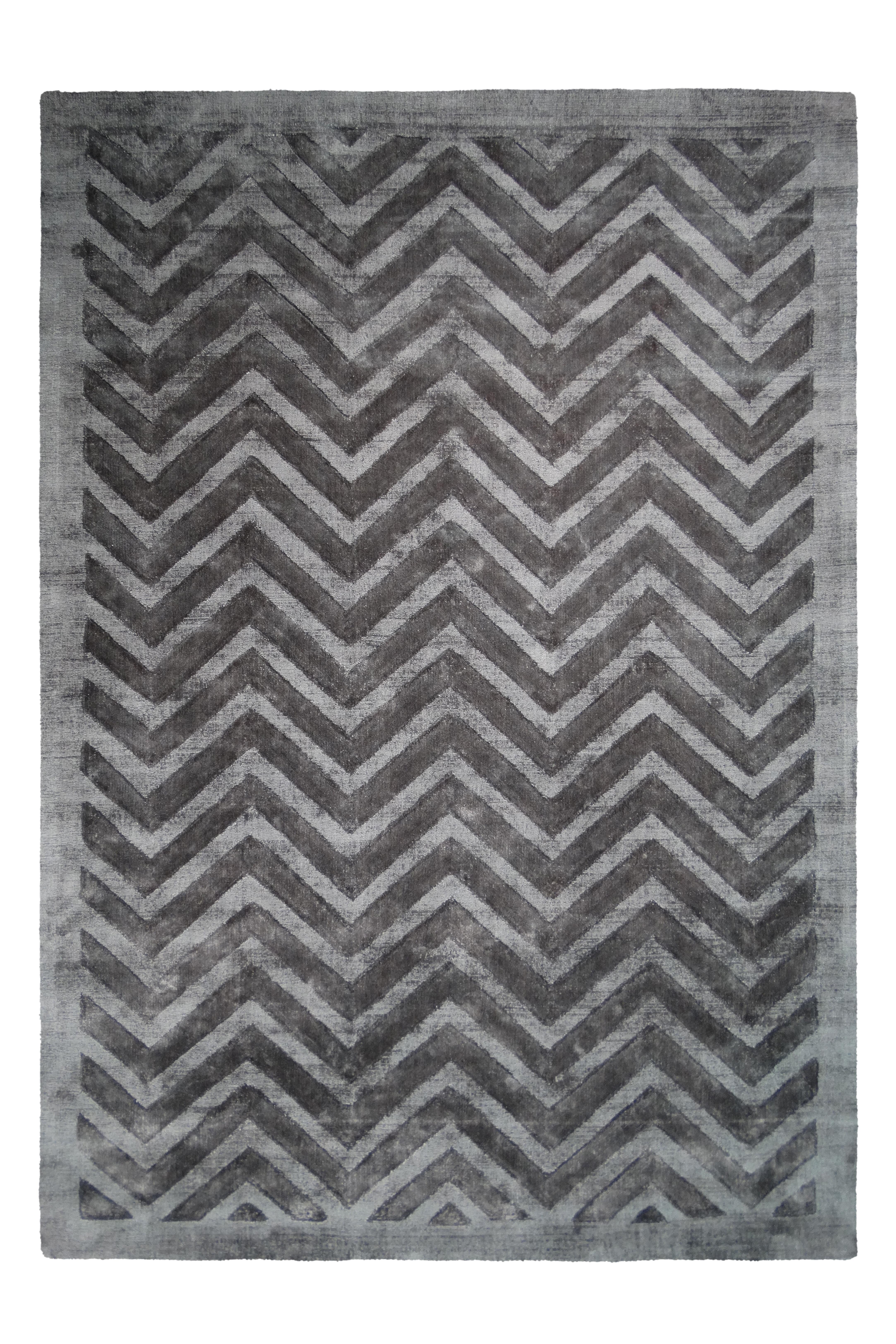 Kayoom Vloerkleed 'Luxury 410' kleur Grijs / Antraciet, 200 x 290cm