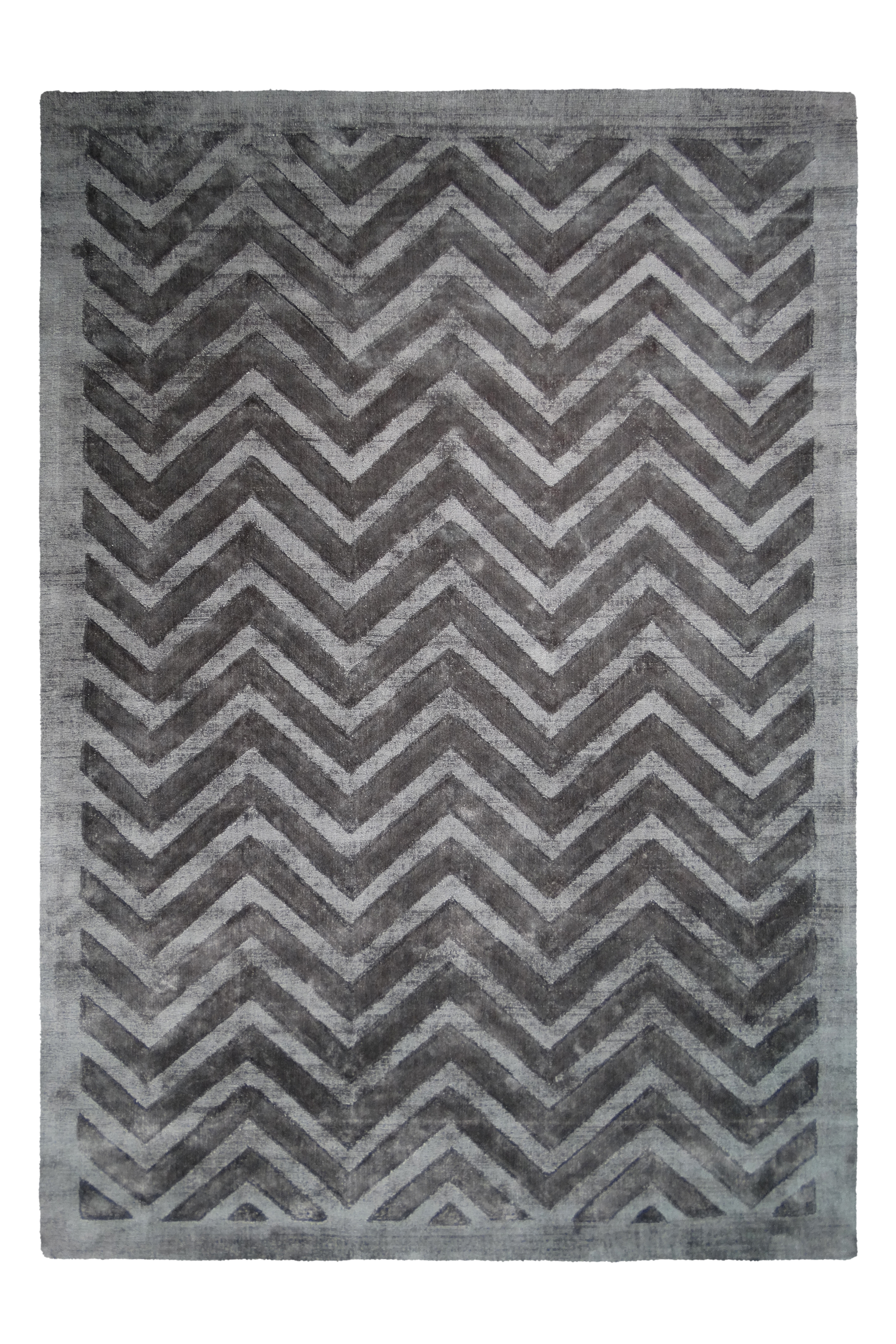 Kayoom Vloerkleed 'Luxury 410' kleur Grijs / Antraciet, 80 x 150cm