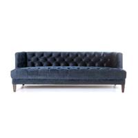 Eleonora Bank 'Vogue' Velvet 214cm, kleur blauw