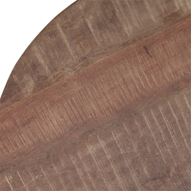 Eleonora Bijzettafel Mango met metalen poot 50 x 50cm, kleur zwart