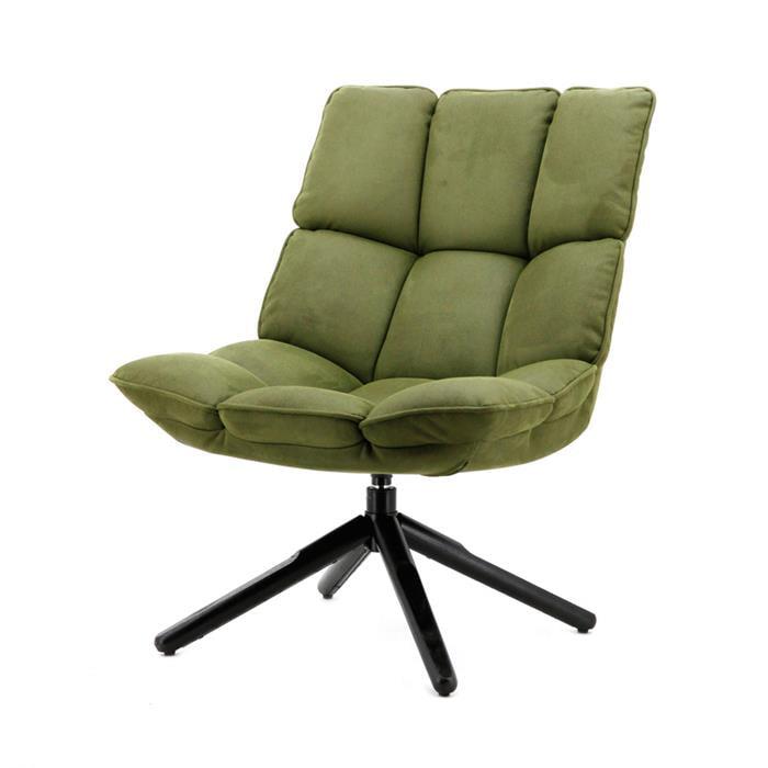 SoHome Draaifauteuil 'Hanne' kleur groen Zitmeubelen | Fauteuils vergelijken doe je het voordeligst hier bij Meubelpartner