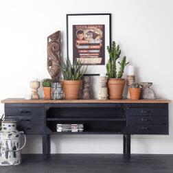 Eleonora Tv-meubel 'Industrieel' 185cm