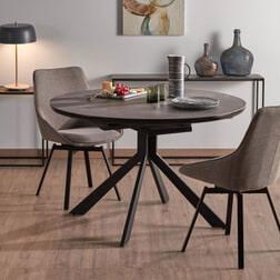 Kave Home Eettafel 'Enya' 160cm, kleur Donkergrijs