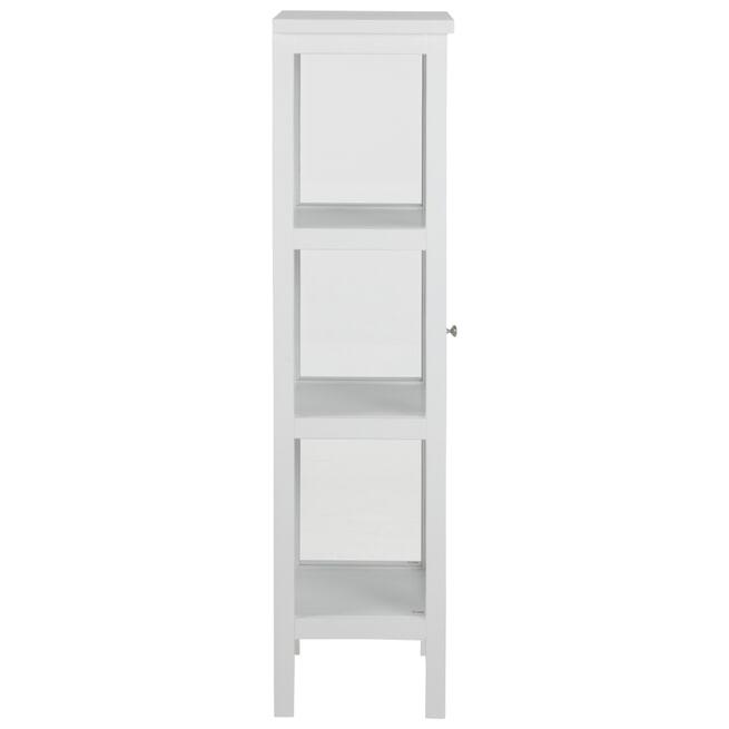 Bendt Vitrinekast 'Yutte' 136 x 46cm, kleur wit