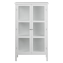 Bendt Vitrinekast 'Yutte' 136 x 80cm, kleur wit