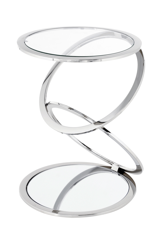 Kayoom Bijzettafel 'Spiraal' 40cm, kleur zilver
