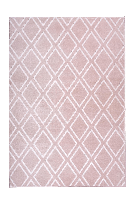 Kayoom Vloerkleed 'Monroe 300' kleur roze, 200 x 290cm