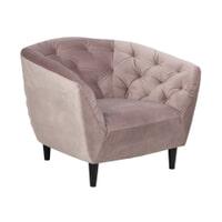 Fauteuil 'Loes' Velvet, kleur roze