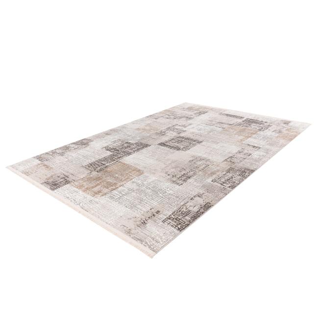 Kayoom Vloerkleed 'Akropolis 425' kleur Grijs / Zilver