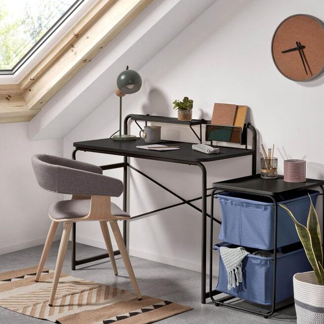 Kave Home Bureau 'Foreman', kleur Zwart