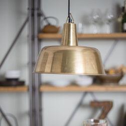 Dutchbone Hanglamp 'Freak' Brass, 31cm