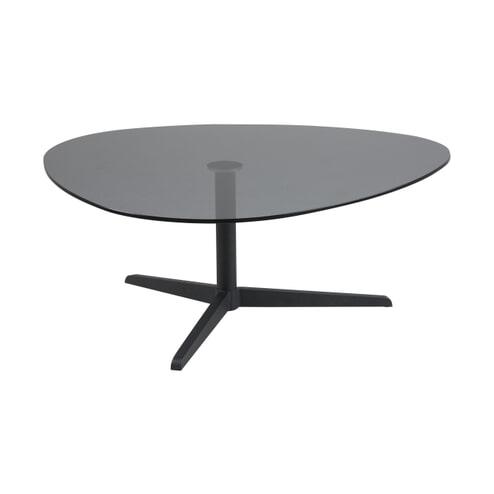 Bendt Glazen Salontafel 'Lise' 103 x 95cm, kleur zwart