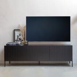 WOOOD TV-meubel 'Gravure' 180cm, kleur Zwart