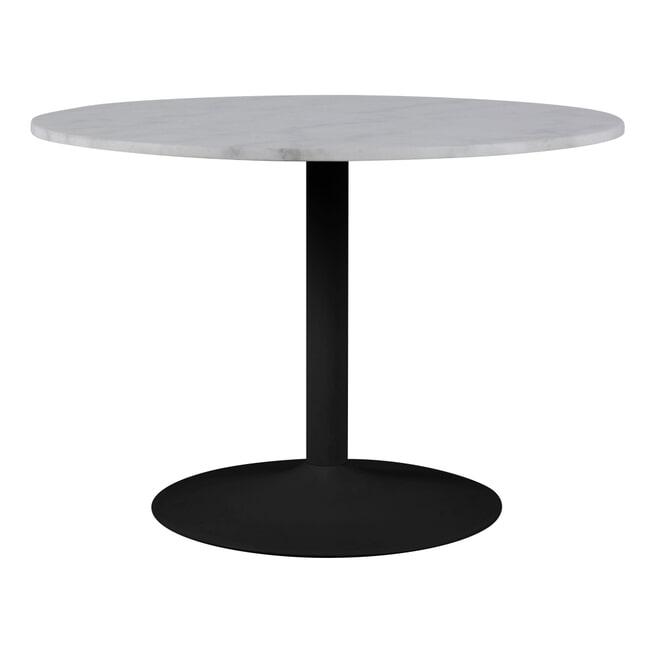 Bendt Ronde Eettafel 'Dara' 110cm, kleur Wit Marmer