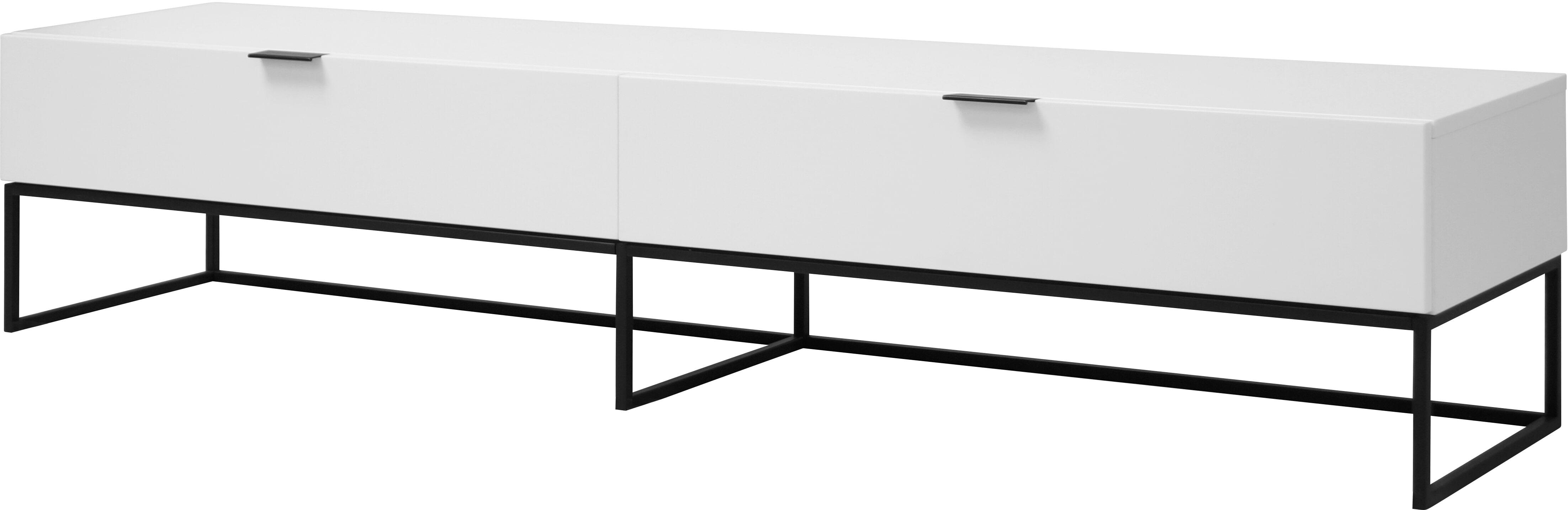 Interstil Tv-meubel 'Kobe' 200cm, kleur wit met voordeel snel in huis via Meubel Partner