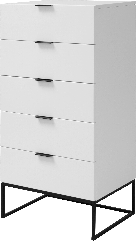 Interstil Ladenkast 'Kobe' met 5 laden, kleur wit met voordeel snel in huis via Meubel Partner