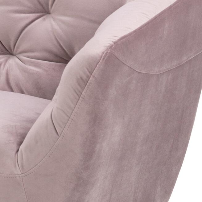 Bendt Loungebank 'Loes' kleur Dusty Rose