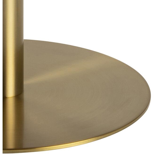 Bendt Ronde Salontafel 'Birte' wit Marmer/Brass, 80cm