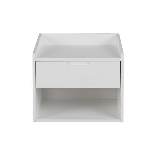 Bendt Hangend nachtkastje 'Leah' MDF met 1 lade, kleur wit