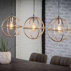 Hanglamp 'Atom' 3-lamps x Ø30cm