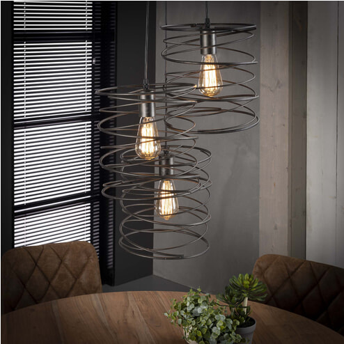Hanglamp 'Curl' 3-lamps x Ø40cm