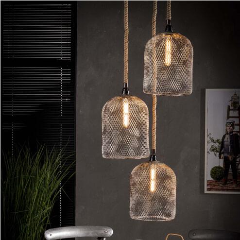 Hanglamp 'Diane' 3-lamps