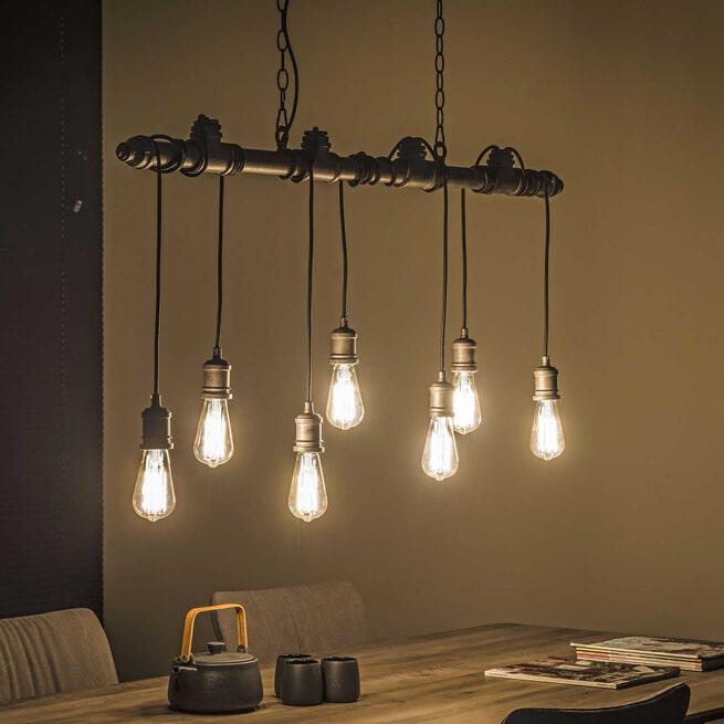 Hanglamp 'Fikret' 7-lamps, 120cm