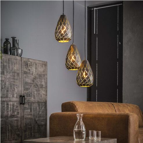 Hanglamp 'Heiner' 3-lamps x Ø30cm