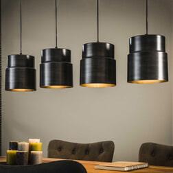 Hanglamp 'Ingrid' 4-lamps x Ø21cm
