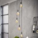 Hanglamp 'Lupita' Rond met 5 hangende fittingen