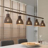 Hanglamp 'Roscoe' 5-lamps, kleur Bruin