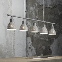 Hanglamp 'Roscoe' 5-lamps, kleur Grijs