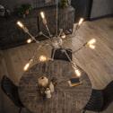 Hanglamp 'Spider' 10-lamps verstelbaar