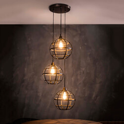 Hanglamp 'Tatsuya' 3-lamps, Ø33 cm