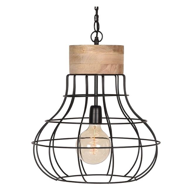 LABEL51 Hanglamp 'Drop', Mangohout, kleur Zwar