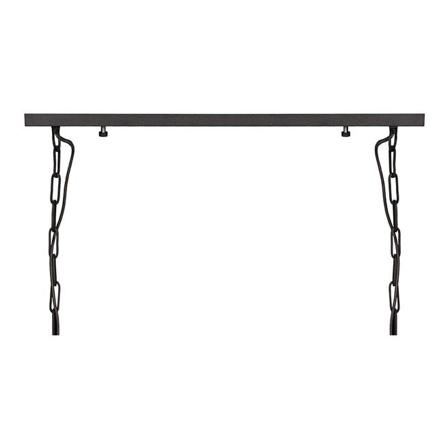 LABEL51 Hanglamp 'Loco', Metaal, 8 lamps, kleur Zwart