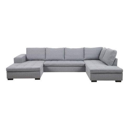Hoekbank 'Alvin' lounge links, kleur lichtgrijs