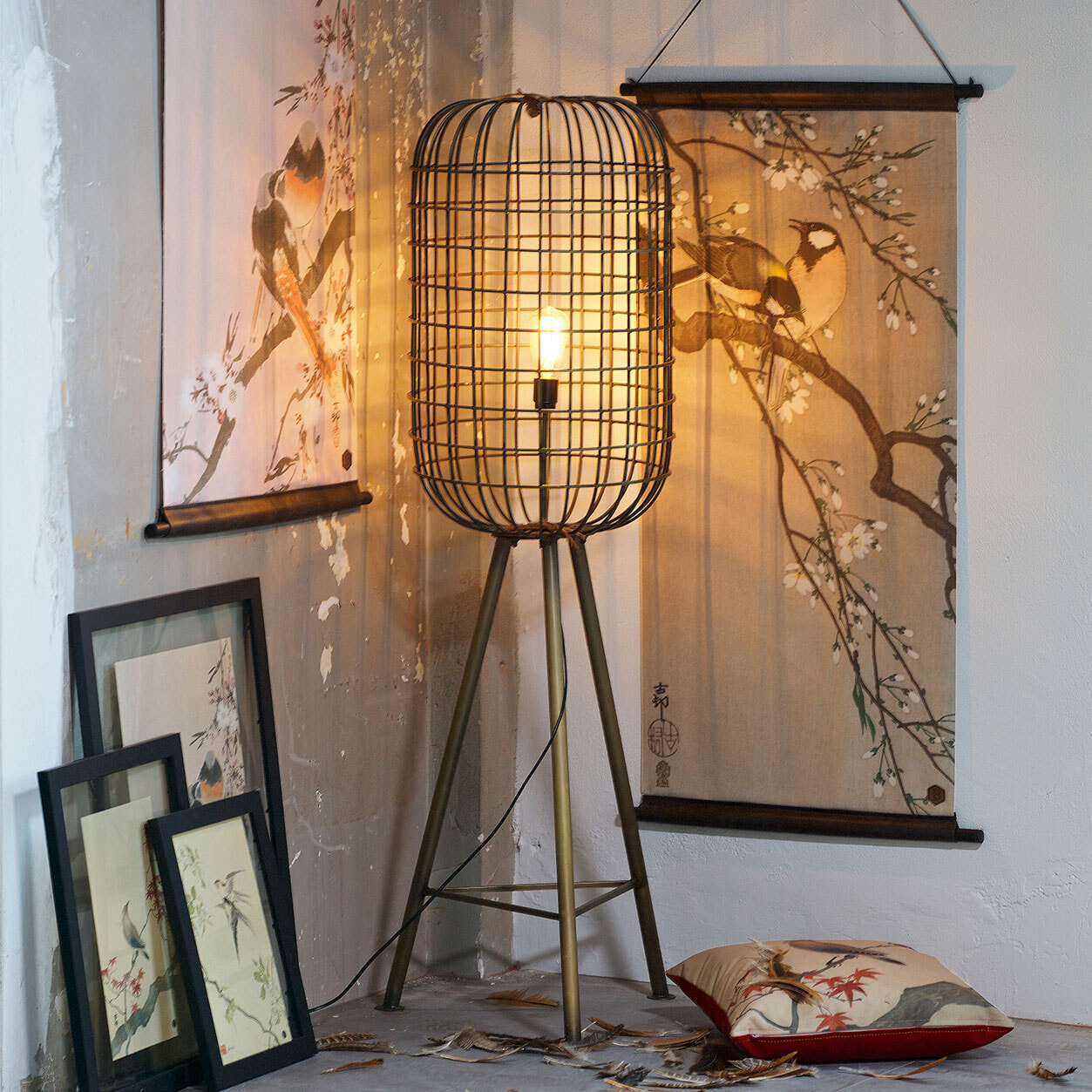 BePureHome Vloerlamp 'Hurricane', kleur Antique Brass