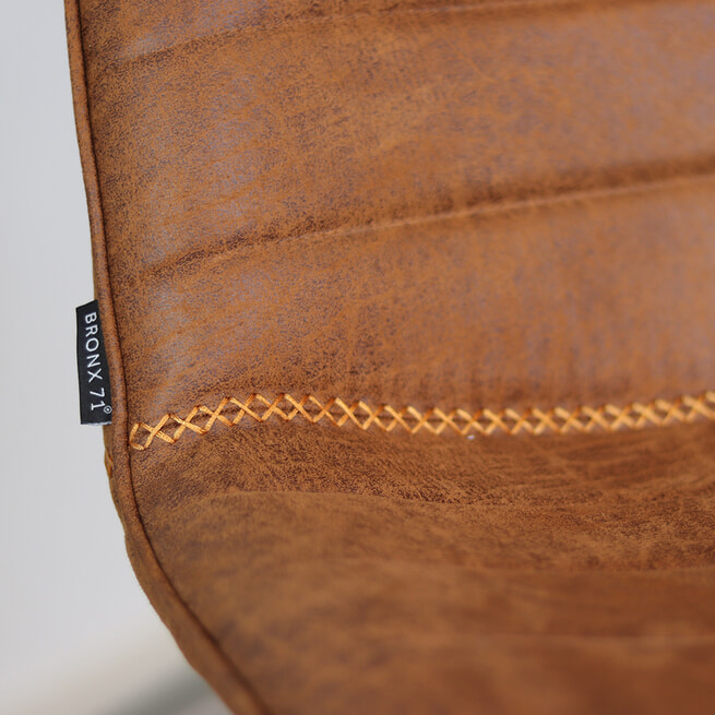 Barkruk 'Jackson' Eco-leder, kleur cognac (zithoogte 73cm)