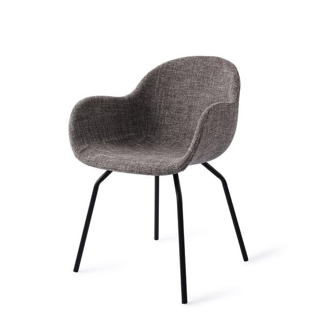 Barkruk 'Jayron' velvet, kleur okergeel (zithoogte 82cm)