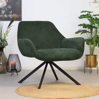 Fauteuil 'Emily' kleur groen