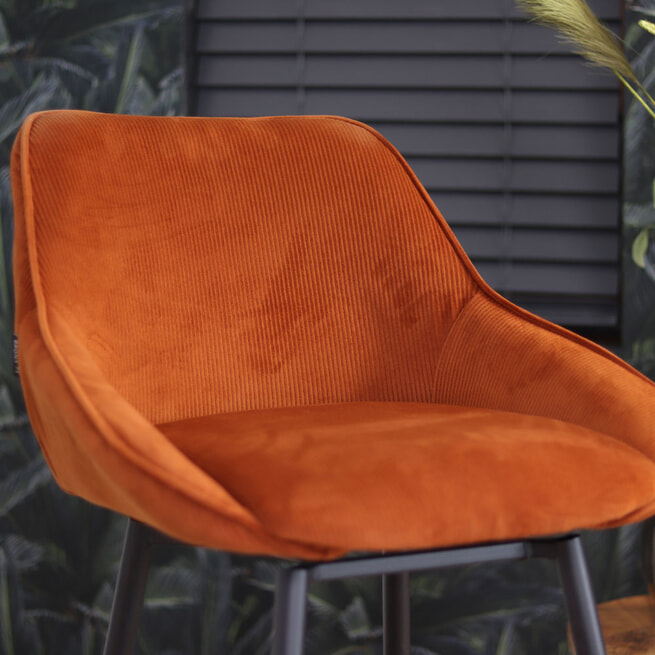 Barkruk 'Luna' kleur koper (zithoogte 70cm)