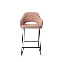 Brookvin Barkruk 'Frenkie' velvet, kleur zwart (in hoogte verstelbaar)