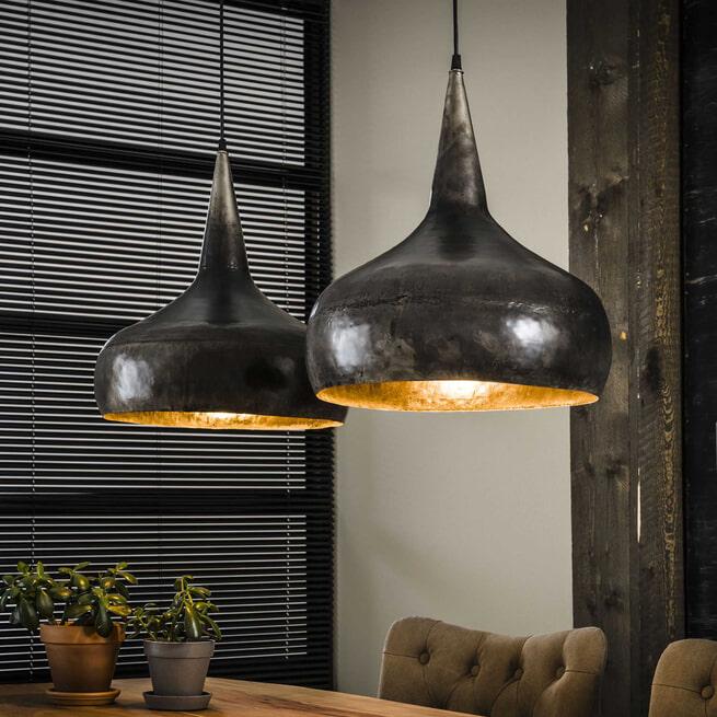 Industriële Dubbele Hanglamp 'Jessica' Ø40cm